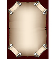 Aged parchment scroll vector image