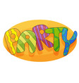 banner for kids party in cartoon style with vector image vector image