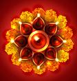 Beautiful diwali diya on background vector image vector image