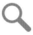 black pixel search icon vector image vector image