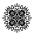 black tattoo mandala on white background in vector image