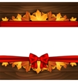 Border of autumn maples leaves vector image vector image