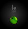 Bowling bowl on the dark background as design vector image vector image