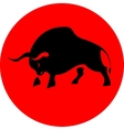 Bull attack red icon vector image vector image