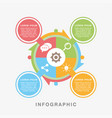 business infographic data graph vector image vector image