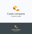 C cards files logo vector image vector image