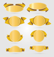 Circle gold banners vector image vector image
