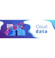 cloud engineering header banner vector image vector image