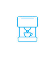 coffee machine linear icon concept coffee machine vector image vector image