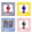 collection of flat shading style icons nuclear vector image vector image