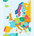 colorful map europe vector image vector image