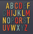 colorful shadowed retro font multi colored vector image vector image