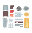 construction materials - set of modern vector image vector image
