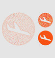 danger landing aircraft mesh network model vector image vector image