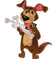 dog with bones vector image vector image