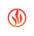 fire flame nature logo and symbols icons template vector image vector image