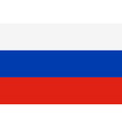 Flag of Russian Federation vector image vector image