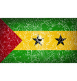 Flags Sao Tome Principe with broken glass texture vector image vector image