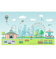 flat amusement park vector image