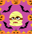 halloween background seamless with mummy vector image vector image