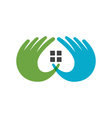 Hand Care Logo Template icon Business vector image vector image