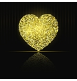 Heart on black background Gold glitter vector image