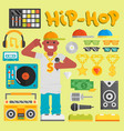 hip hop man musician with microphone vector image vector image