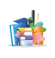investment in knowledge vector image vector image