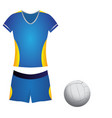 isolated volleyball uniform vector image vector image