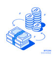 isometric bitcoin investment design concept vector image vector image