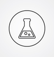 laboratory outline symbol dark on white background vector image vector image