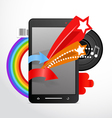 Modern gadget with extended functions vector image vector image