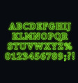 neon green font bright capital letters with vector image vector image