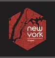new york hyped t-shirt and apparel design vector image vector image
