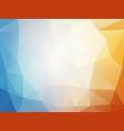 orange blue summer geometric mosaic background vector image vector image