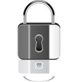 padlock with reflection vector image