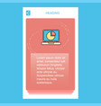 pie chart on laptop mobile vertical banner design vector image