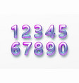 realistic 3d golden font color rainbow holographic vector image