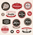 restaurant badges and labels vector image vector image