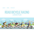 road bicycle racing sport competition cartoon web vector image vector image