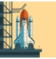 rocket is ready for launch vector image vector image