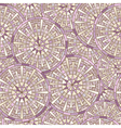Seamless round mosaic pattern vector image