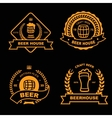 Set of vintage gold badge logo and design vector image