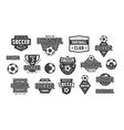 set template emblem for soccer team vector image vector image