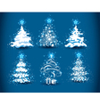 snowy christmas trees vector image vector image