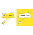 speaker and tag thank you vector image vector image