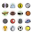 Sports comics icons vector image vector image