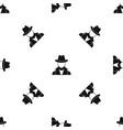 spy pattern seamless black vector image vector image