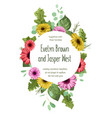 summer wreath round frame for wedding invitation vector image vector image