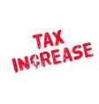 tax increase rubber stamp vector image vector image